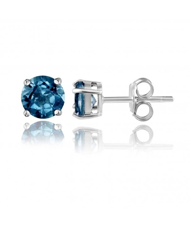 Sterling Silver London Topaz Earrings