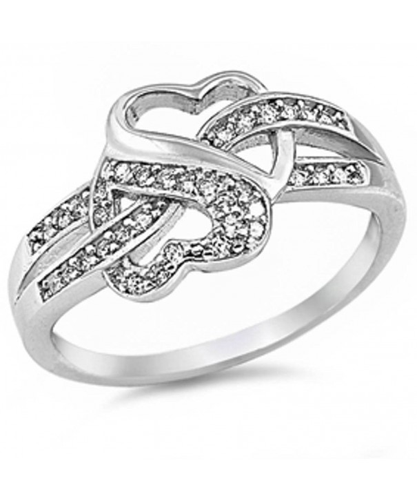 Infinity Heart Sterling Stainless Steel