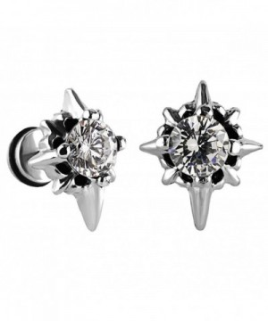 Charisma Unisex Stainless Zirconia Earrings