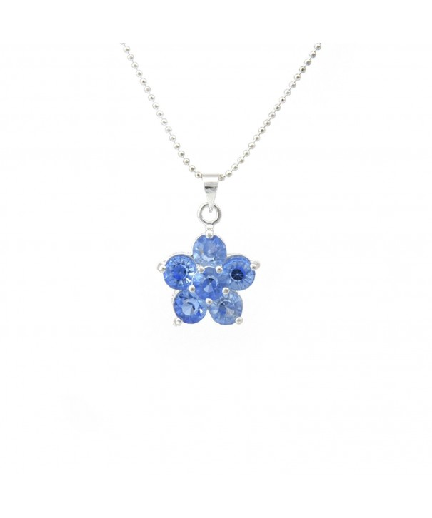 Silver Plated Necklace Flower Pendant
