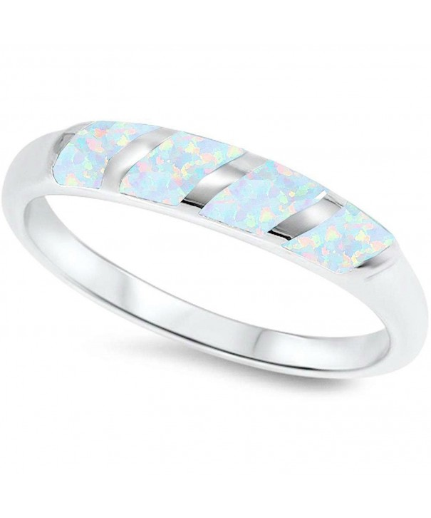 Sterling Silver Created White Modern