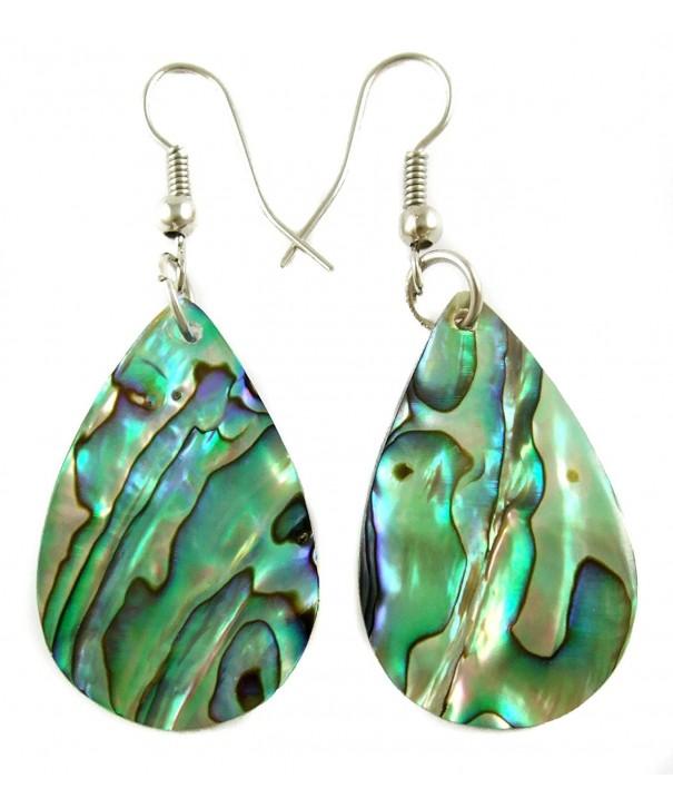 Handmade Iridescent Teardrop earrings BA196