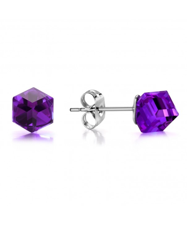 J Fe SISN Purple Aurora Borealis Earrings