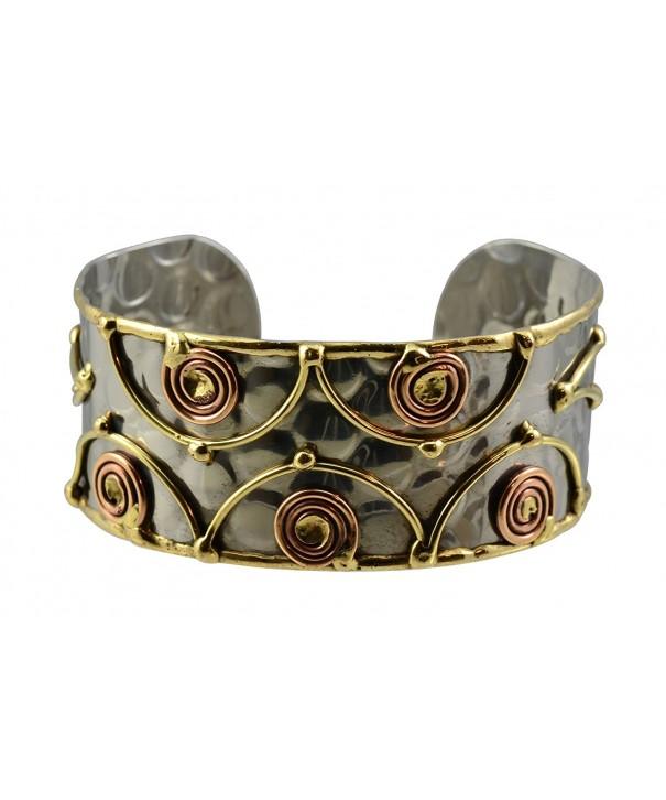 Anju Stainless Bracelet Copper Swirls