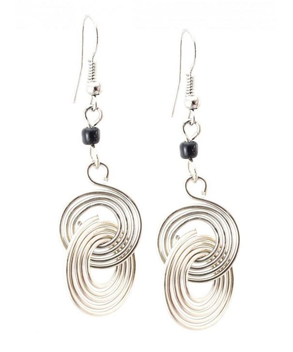 Maisha Trade Circle Earrings Black