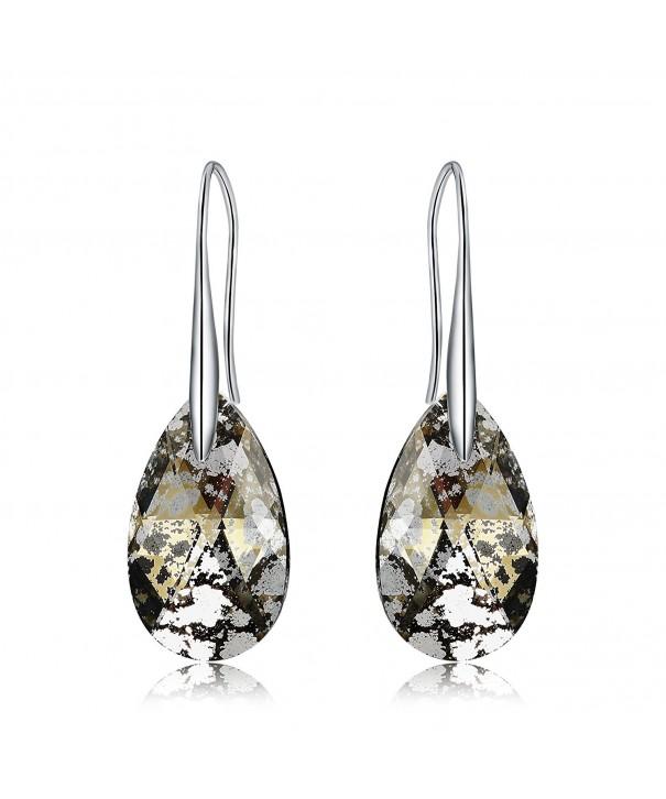 Mevecco Earrings Swarovski Jewelry Gold Patina
