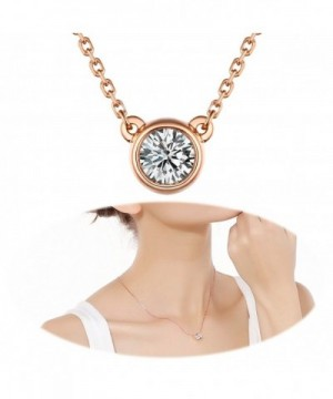 Necklace Rhinestone Pendants Solitaire Collarbone