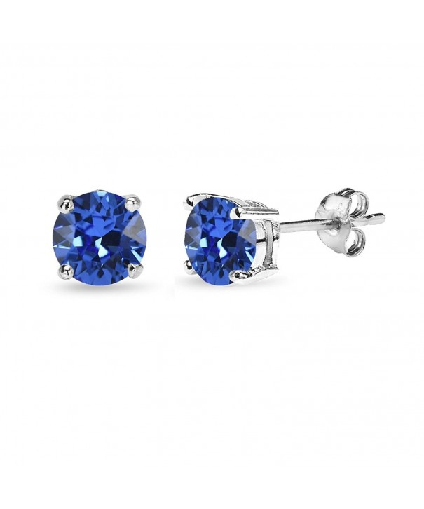 Sterling Solitaire Earrings Swarovski Crystals