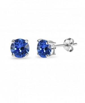 Sterling Solitaire Earrings Swarovski Crystals