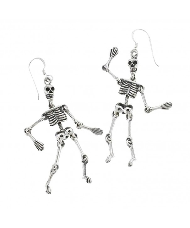 Sterling Silver Jointed Skeleton Earrings