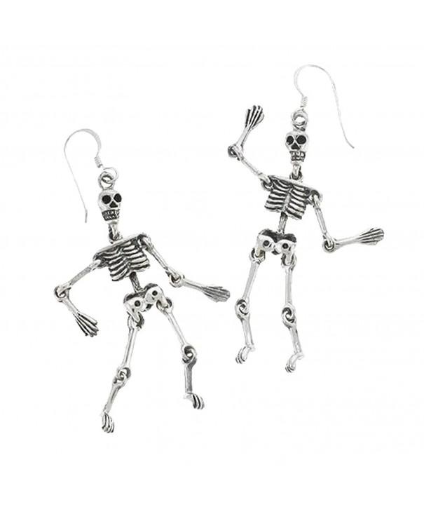 Sterling Silver Jointed Skeleton Earrings