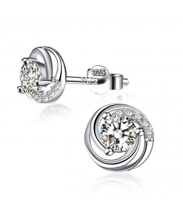 Earrings Exquisite Sterling Zirconia J Rose