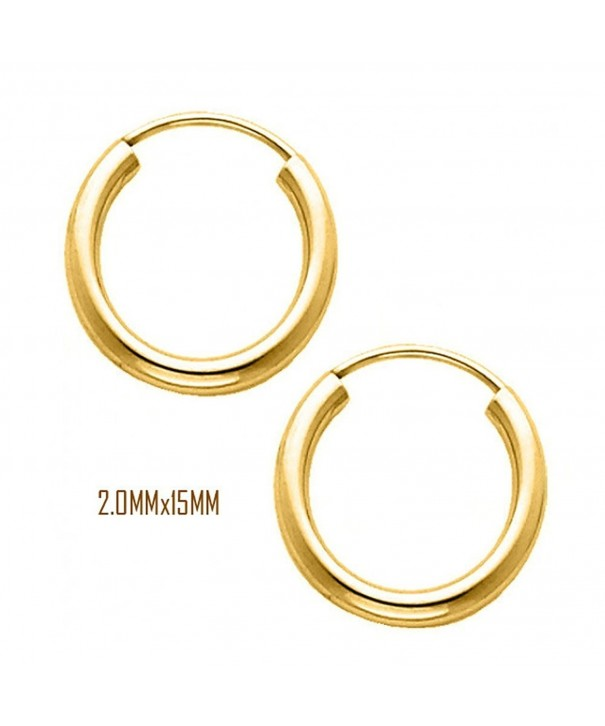 Yellow Diameter Endless Earrings Thickness