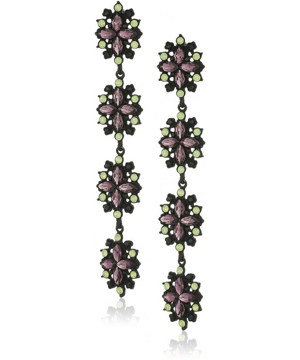 Steve Madden Flower Earrings Black