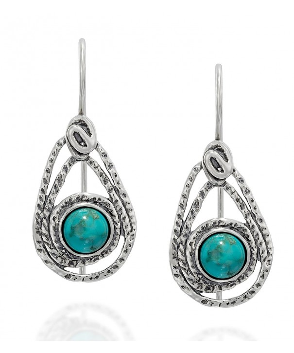Teardrop Sterling Earrings Turquoise Jewelry