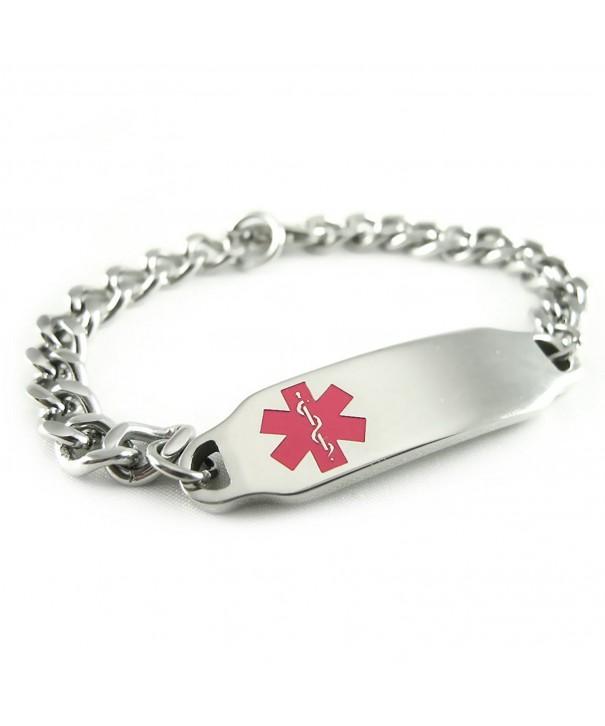 MyIDDr Pre Engraved Customizable Hypoglycemia Bracelet