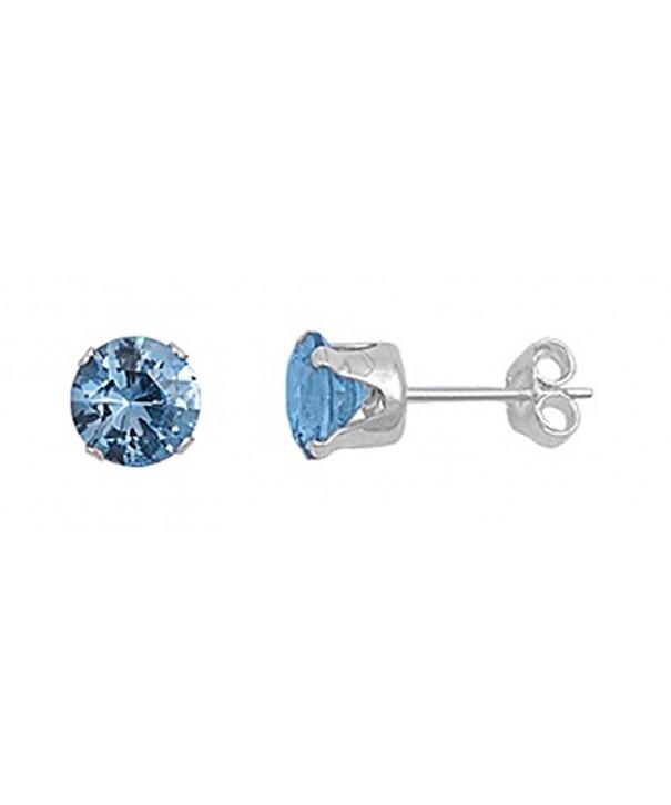 Sterling Silver Light Zirconia Earrings