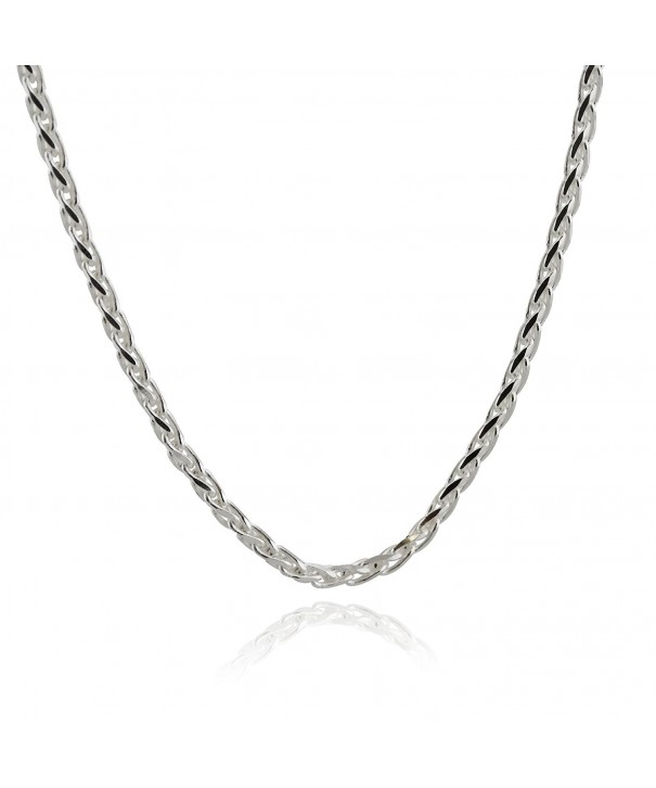 Italian Sterling Silver Spiga Necklace