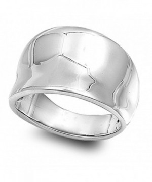 Sterling Silver Womens Concave Fashion