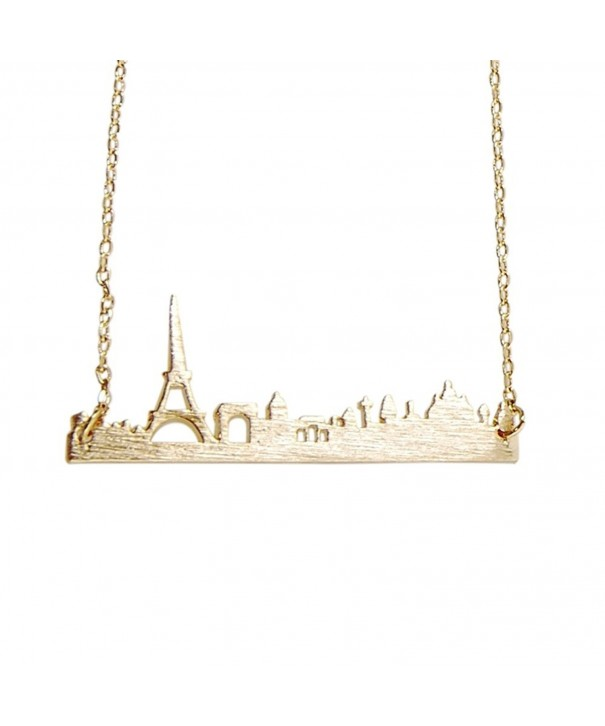 Art Attack Goldtone Cityscape Necklace