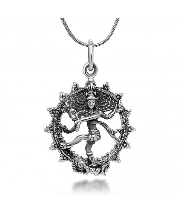 Sterling Nataraja Destruction Pendant Necklace