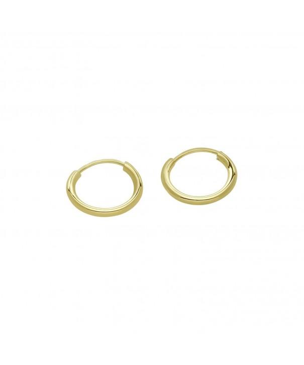 Endless Earrings Cartilage Diameter yellow gold