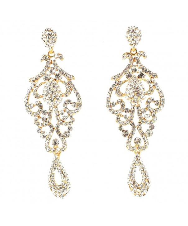 Austrian Rhinestone Chandelier Earrings E2090