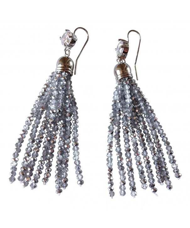 J Shine Created Crystal Earring GE610