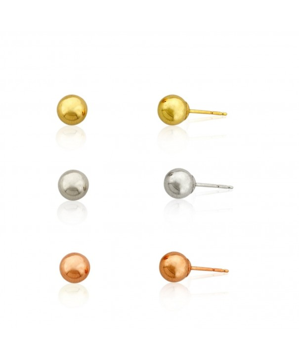 3 pairs Three Color Earring Yellow