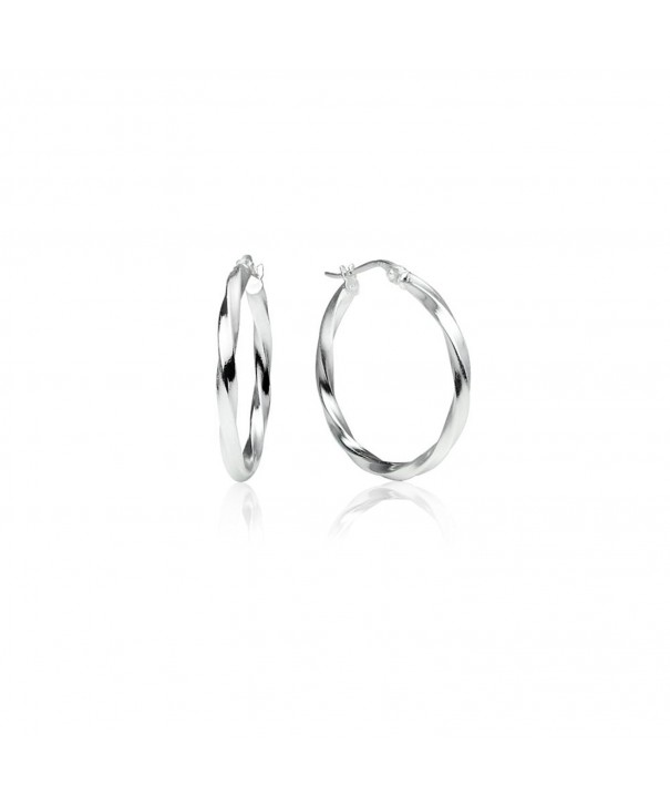Sterling Silver Polished Click Top Earrings