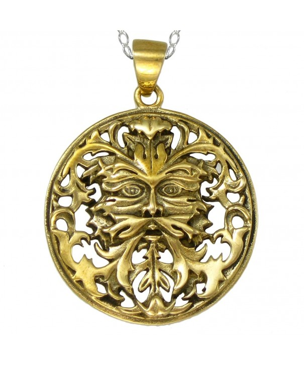 Bronze Celtic Greenman Necklace Sterling