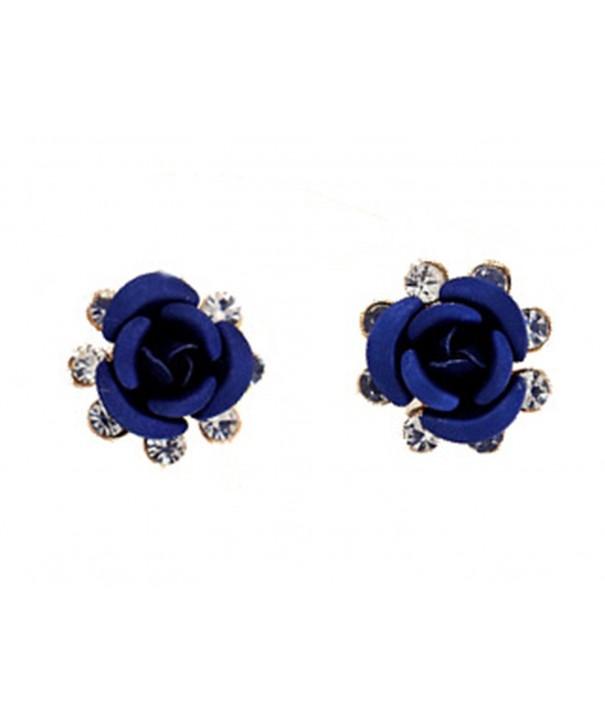 Fashion Earrings Flower Diamond Studs