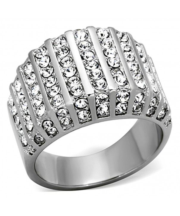 Round Crystal Stainless Fashion Womens