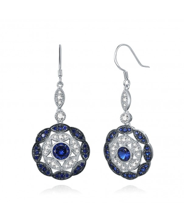 Merthus Sapphire Statement Earrings Sterling