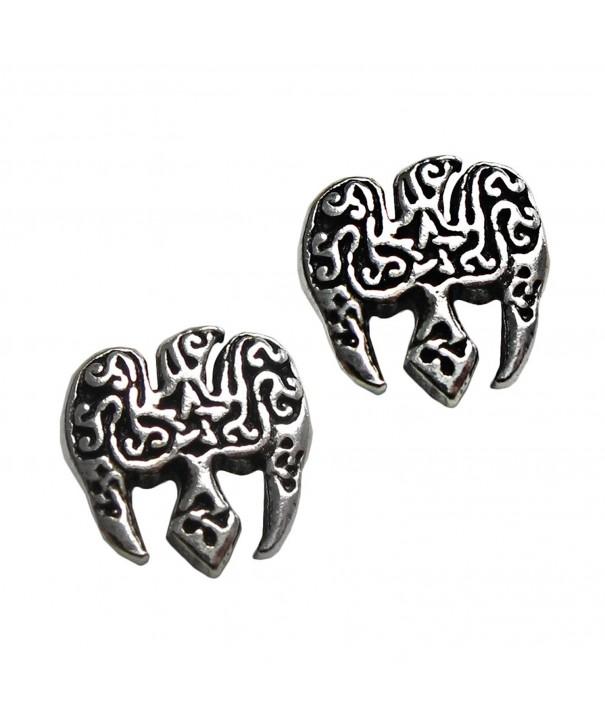 Sterling Silver Pentacle Pentagram Earring