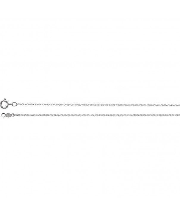 White Gold 85mm Rope Chain
