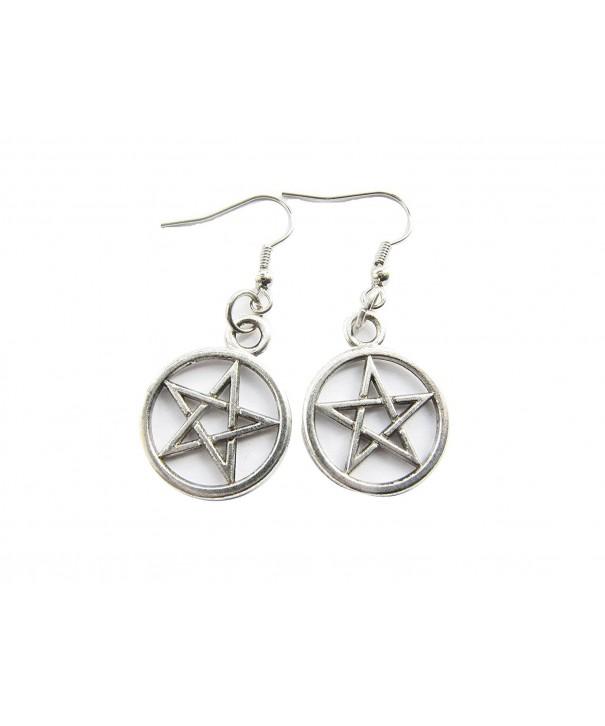 Ancient Pentagram Earrings pentacle pentagram
