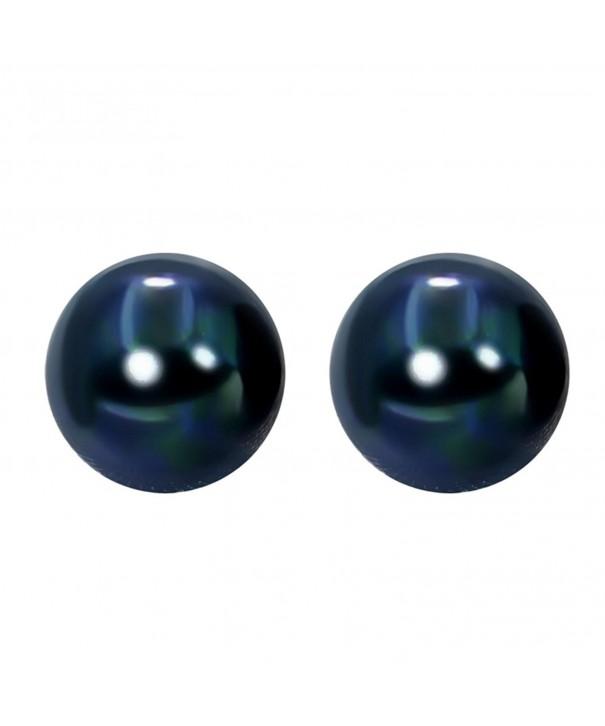 Sterling Silver Dark blue Freshwater Earrings