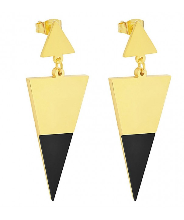 Edforce Stainless Womens Earrings Triangle