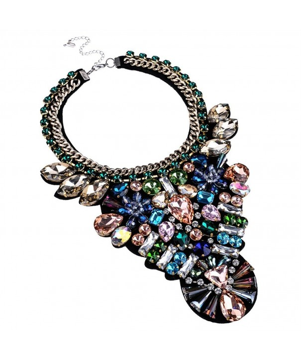 Fashion Handmade Multi color Statement Necklace
