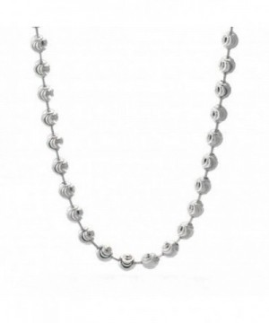 DIAMOND Beaded Necklace Italian Sterling