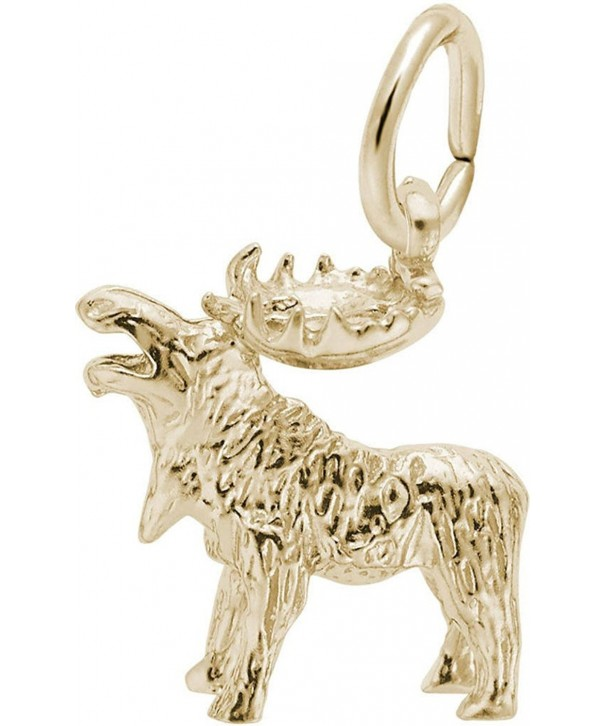 Rembrandt Moose Charm Gold Plated Sterling