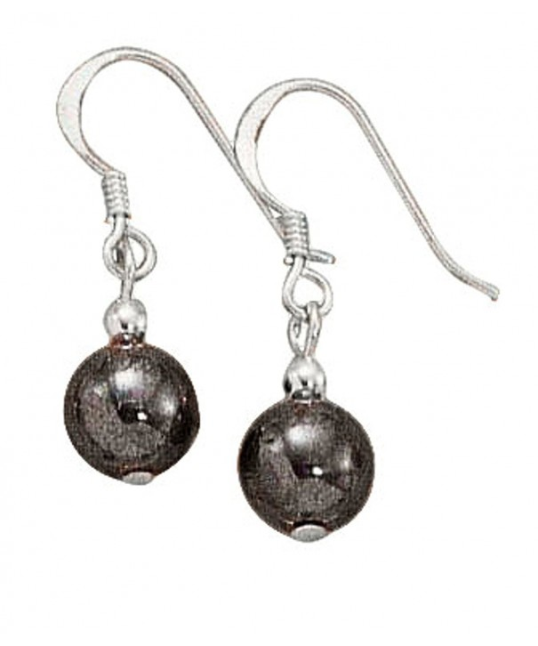 Sterling Silver Hematite Dangle Earrings