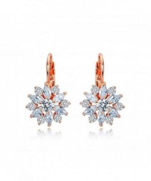 Serend Zirconia Snowflake Leverback Earrings