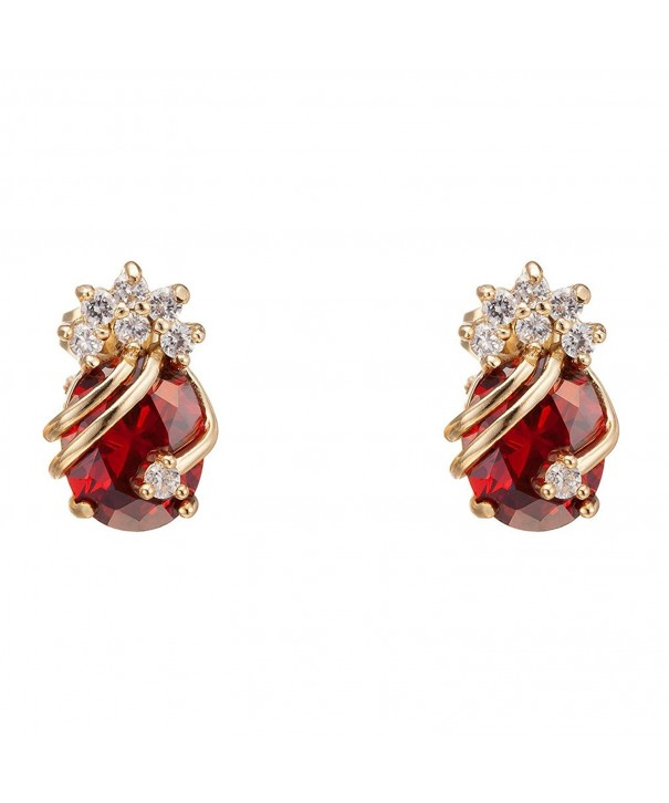 YAZILIND Elegant Zirconia Multicolor Earrings