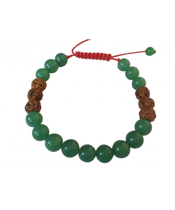 Tibetan Green Rudraksha Bracelet Meditation