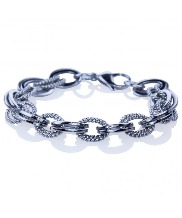 Double Stainless Steel Heavy Bracelet