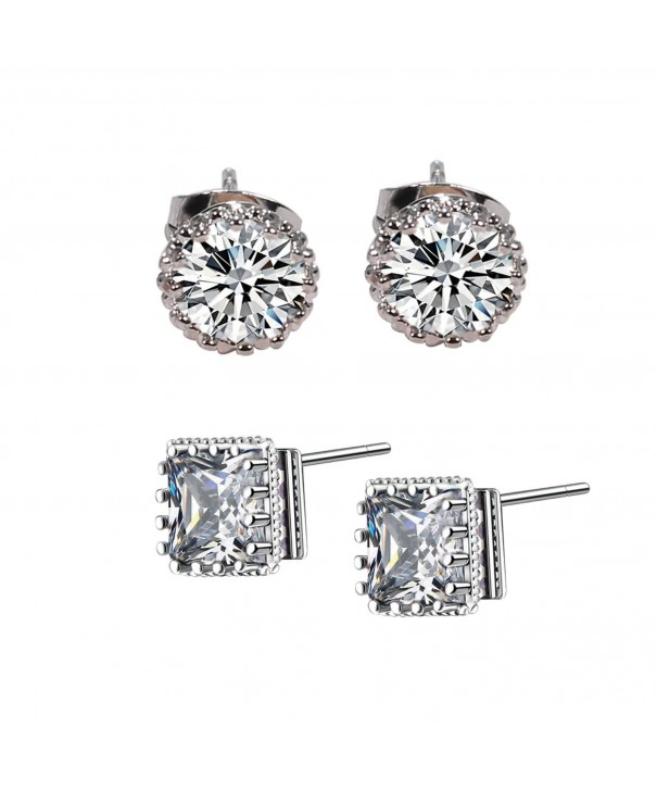 YOUWANG Plated Zirconia Earrings circle