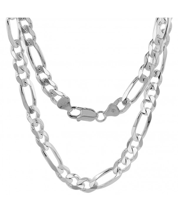 Sterling Silver Figaro Bracelet Beveled