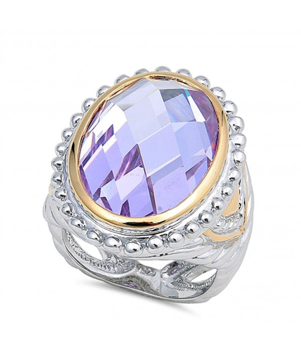 Simulated Lavender Sterling Silver RNG16393 7